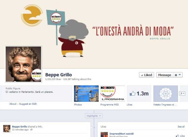 Beppe Grillo Facebook